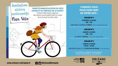 Invitation aux ateliers participatifs du plan vélo
